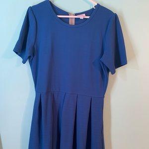 VGUC 2XL LulaRoe Blue Amelia Dress